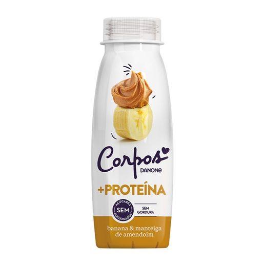 CORPOS DANONE Iogurte Líquido + Proteína Ananás e Manteiga de Amendoim 245 g