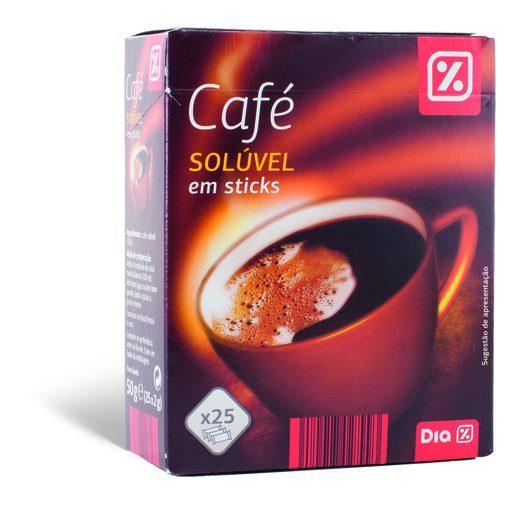DIA Café Solúvel Natural Sticks 25x2 g