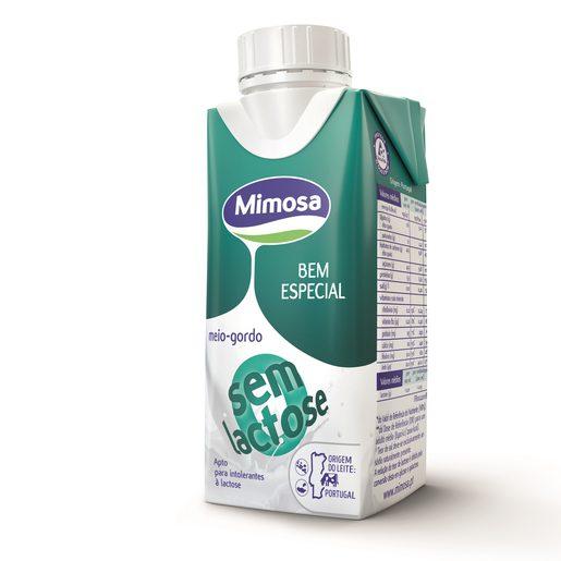 MIMOSA Leite Meio Gordo Sem Lactose UHT 200 ml