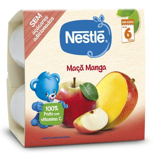 NESTLÉ Maçã Manga Fruta para Bebé +6 Meses 4x100 g