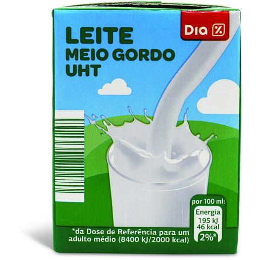 DIA Leite UHT Meio Gordo 200 ml