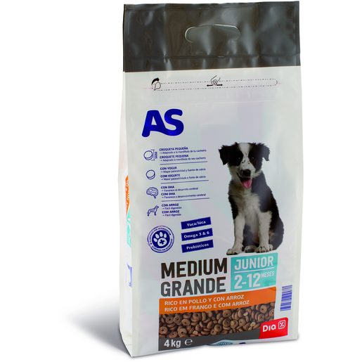 AS Alimentação Seca Para Cão Menu Junior 4 kg
