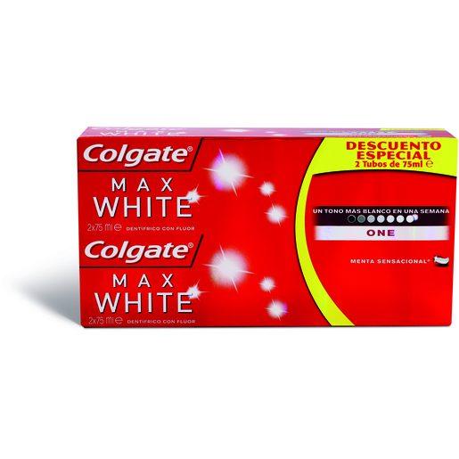 COLGATE Dentífrico Max White One 2x75 ml