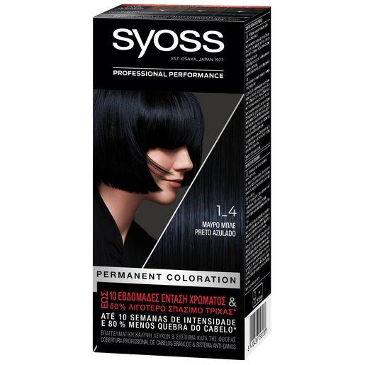 SYOSS Coloração 1-4 Preto Azulado  1 un