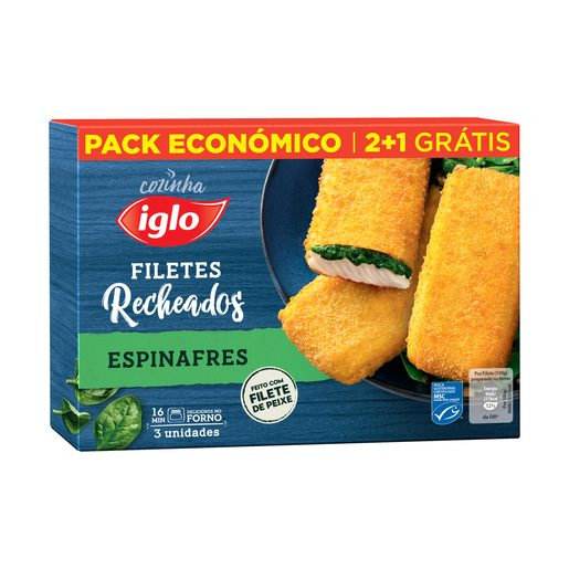 IGLO Filetes Recheados com Espinafres 300 g