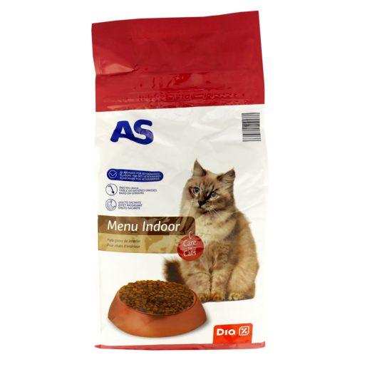 AS Alimentação Seca Para Gato Menu Indoor 1,5 kg