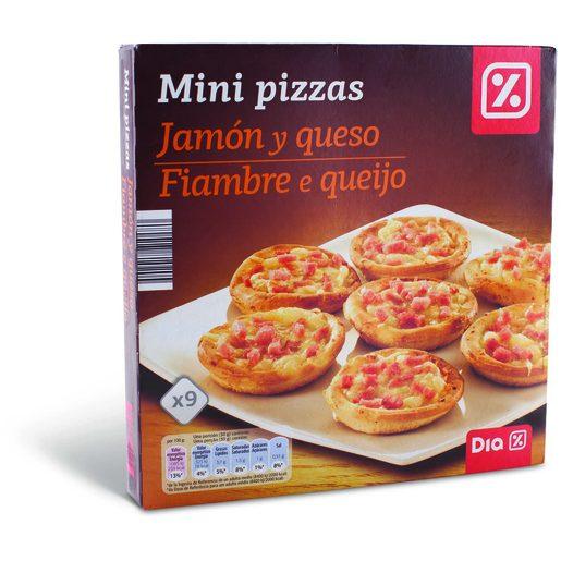 DIA Minipizzas Fiambre e Queijo 270 g