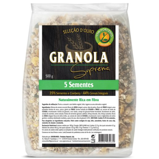 CEM PORCENTO Granola Suprema 500 g