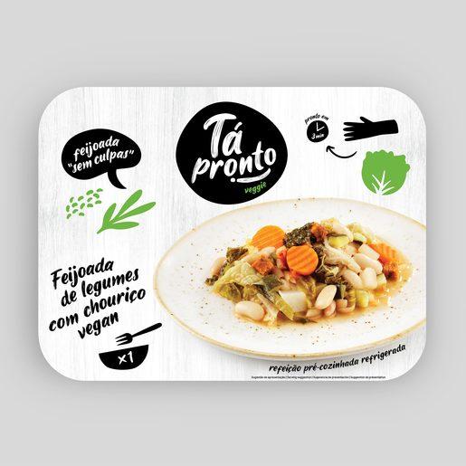TÁ PRONTO Feijoada de Legumes com Chouriço Vegan 350 g