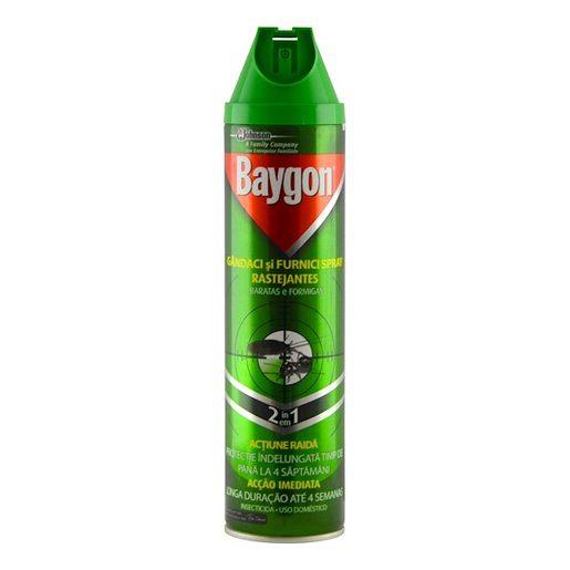 BAYGON Inseticida Spray Rastejantes Baratas e Formigas 400 ml