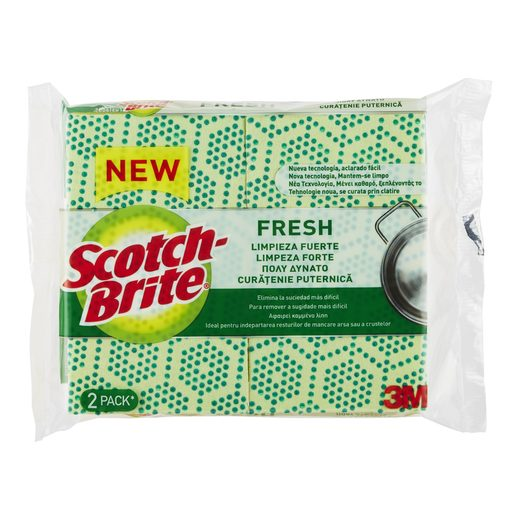 SCOTCH-BRITE Fresh Fibra Verde com Esponja Duplo 2 un