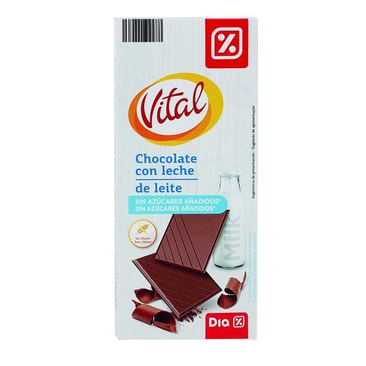 DIA VITAL Chocolate de Leite Sem Açúcar 100 g