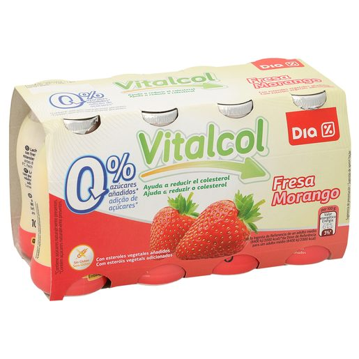 DIA VITAL Iogurte Redutor Colesterol Morango 8x100 g