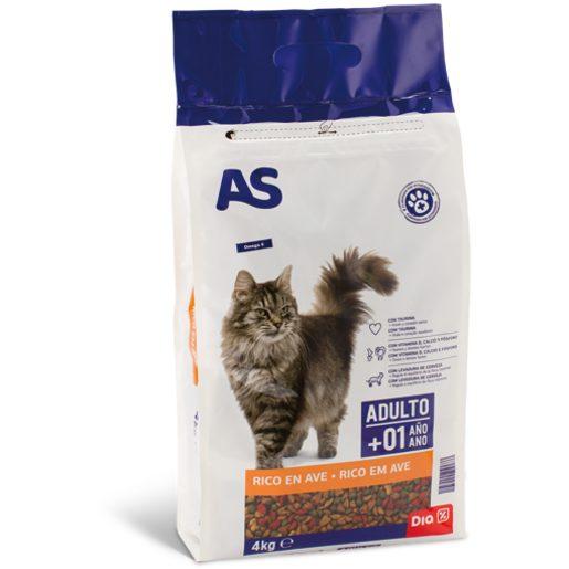 AS Alimentação Seca de Carne Para Gato Menu Mix 4 kg