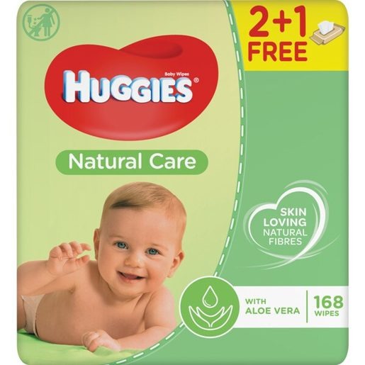 HUGGIES Toalhitas Natural Care Recarga 2x56 un
