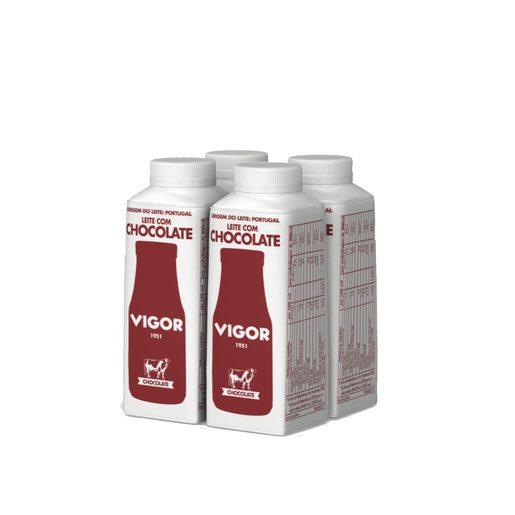 VIGOR Leite Meio Gordo com Chocolate 4x200 ml