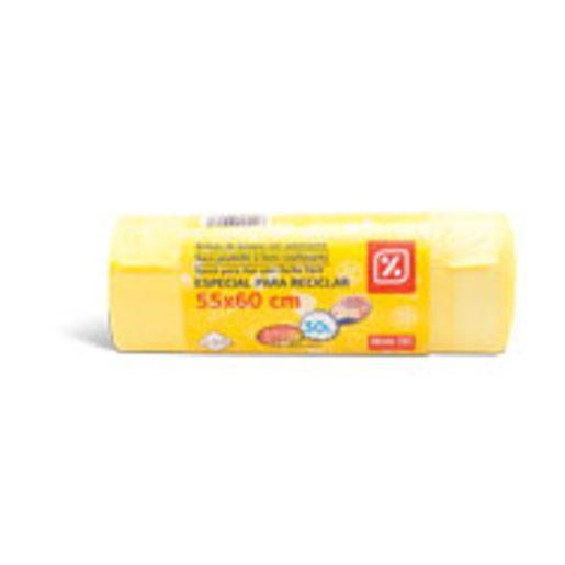 DIA Sacos Lixo 30L Amarelo Reciclagem 30 Un