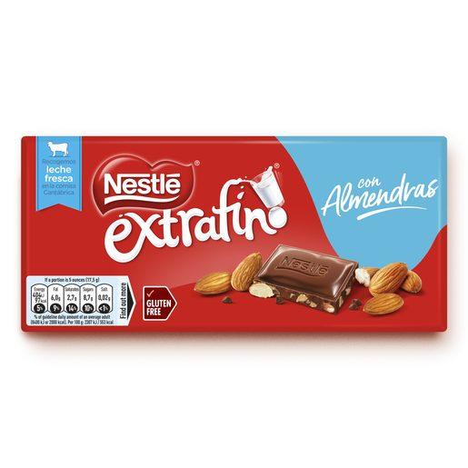 NESTLÉ Tablete de Chocolate com Amêndoas Extrafino 123 g