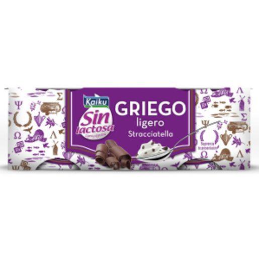 KAIKU Iogurte Grego Ligeiro Straciatella Sem Lactose 2x90 g