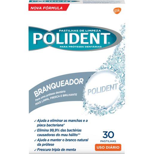 POLIDENT Pastilhas Branqueadoras 30 Un