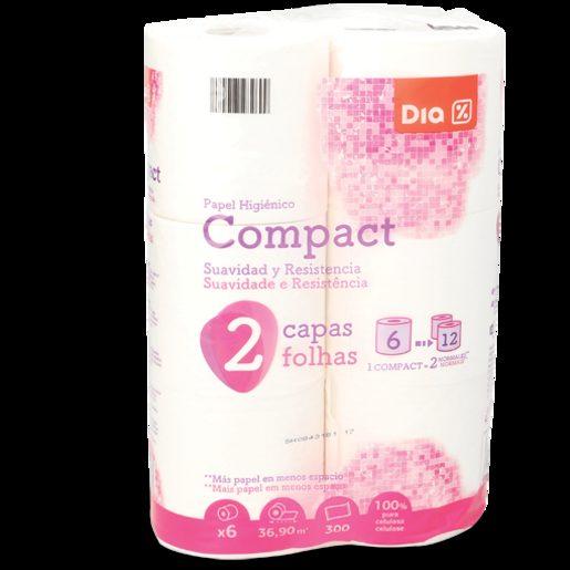 DIA Papel Higiénico Compacto 6 Un