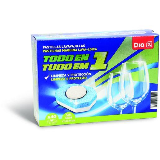 DIA Detergente Pastilhas Máquina Da Loiça Tudo Em 1 40 Lv