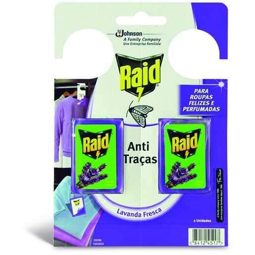 RAID Anti Traças Lavanda 2 Un