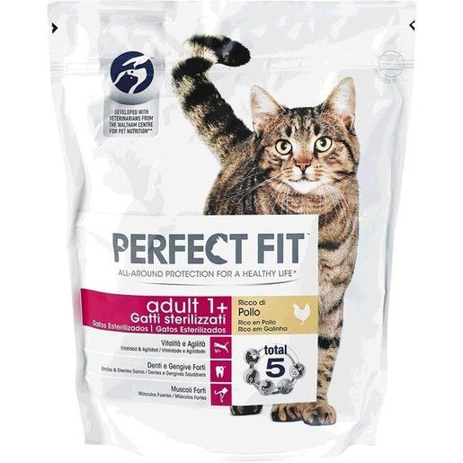 PERFECT FIT Alimento Seco Para Gato Adulto Galinha 750 g