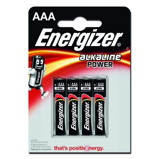 ENERGIZER Pilhas Alcalinas AAA 4 Un