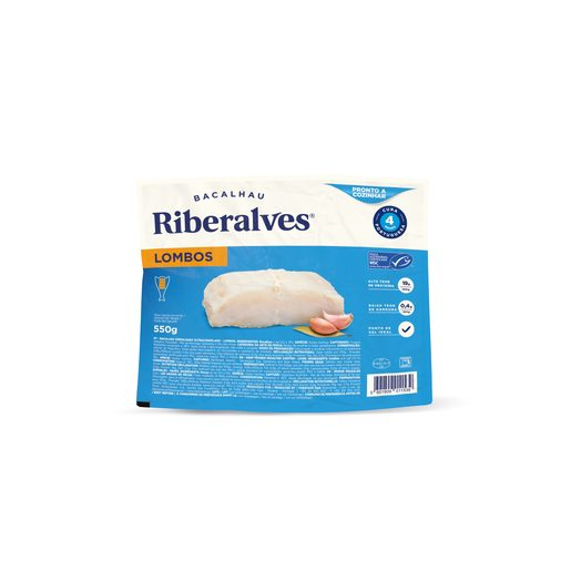 RIBERALVES Lombos de Bacalhau 4 Meses de Cura 550 g