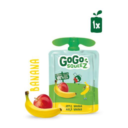 GOGO SQUEEZ Fruta Saqueta Maçã Banana 90 g
