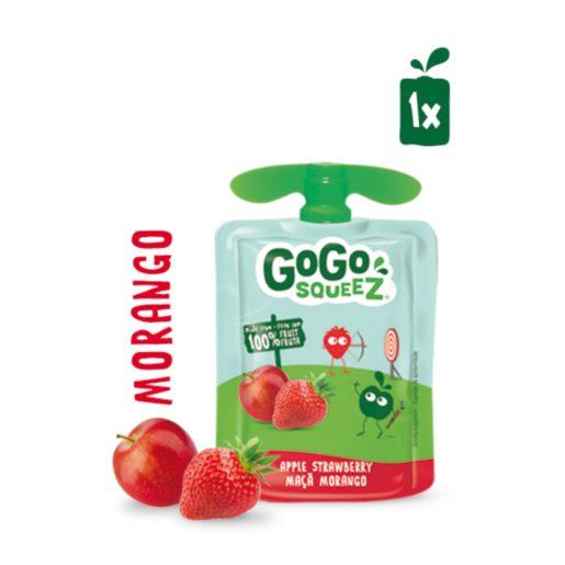 GOGO SQUEEZ Fruta Saqueta Morango Maçã 90 g