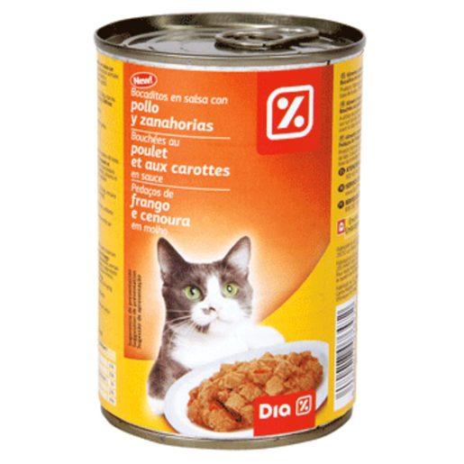 DIA Alimento para Gato com Pedaços Frango e Cenoura 400 g