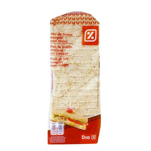 DIA Pão de Forma Integral Sem Côdea 450 g