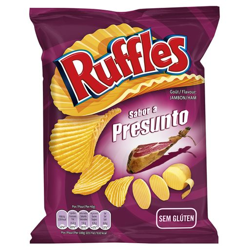RUFFLES Batata Frita Sabor Presunto 80 g