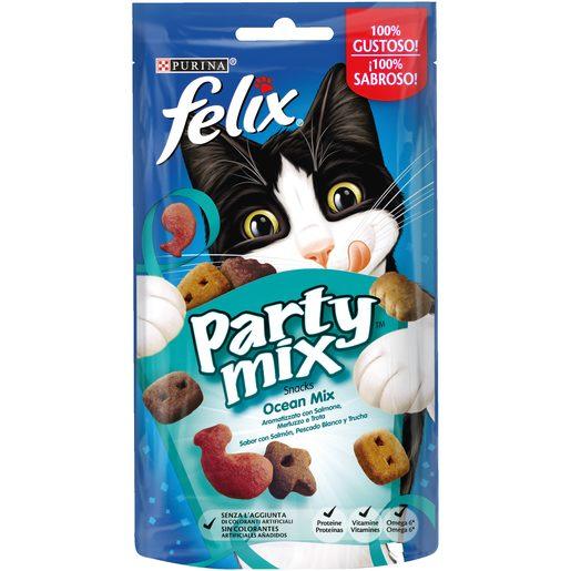 FELIX PARTY MIX Snack para Gato Delícias do Oceano Purina 60 g