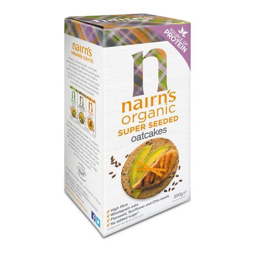 NAIRN'S Bolacha de Aveia Orgânica e Sementes 200 g