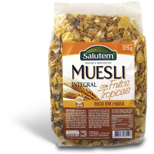 SALUTEM Muesli Integral com Frutos Tropicais 375 g