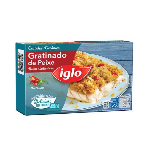 IGLO Peixe Gratinado Receita Mediterrânica 380 g
