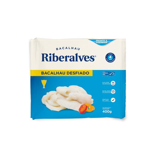 RIBERALVES Bacalhau Desfiado 400 g