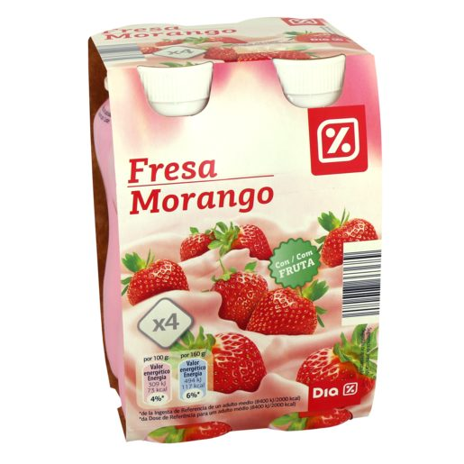 DIA Iogurte Líquido Polpa Morango 4x160 g